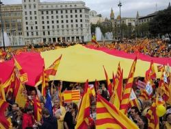 Manifesta��o anti-independentista na Catalunha.